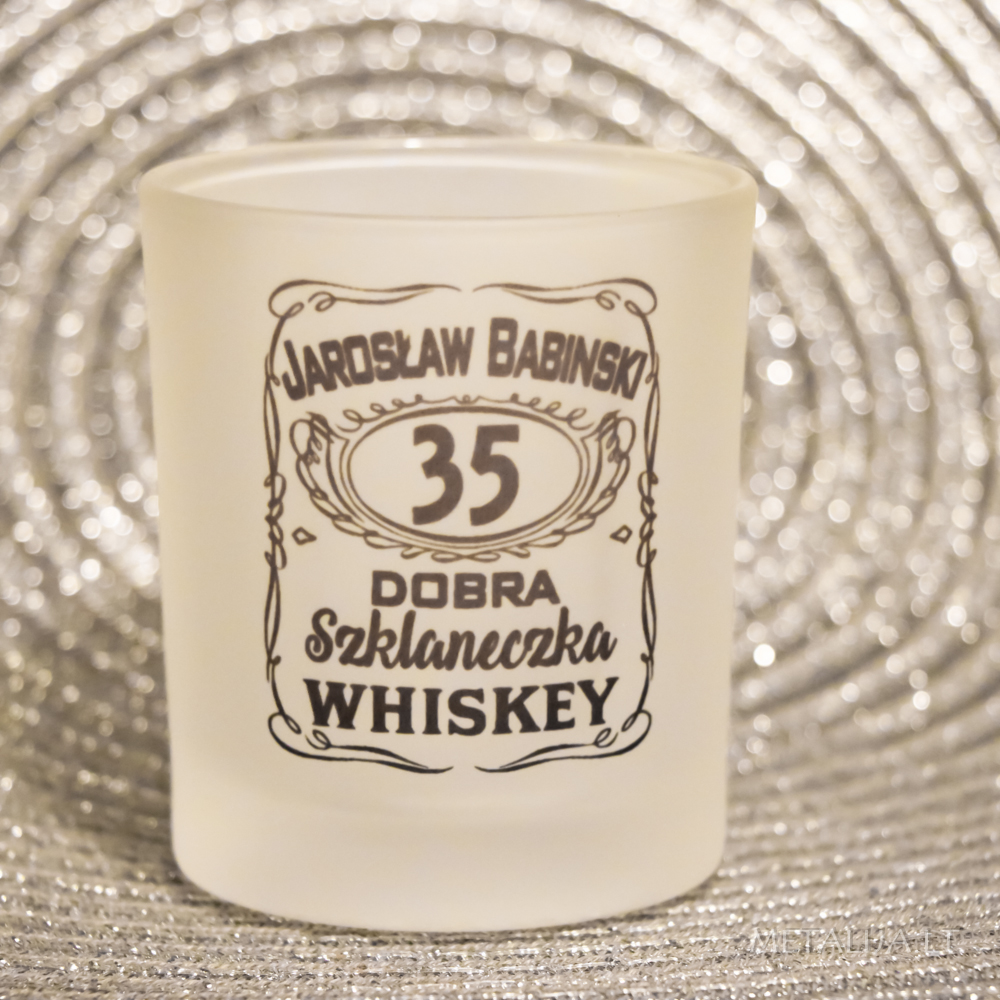 Jack Daniel's butelio kalėjimas su vardine viskio stikline