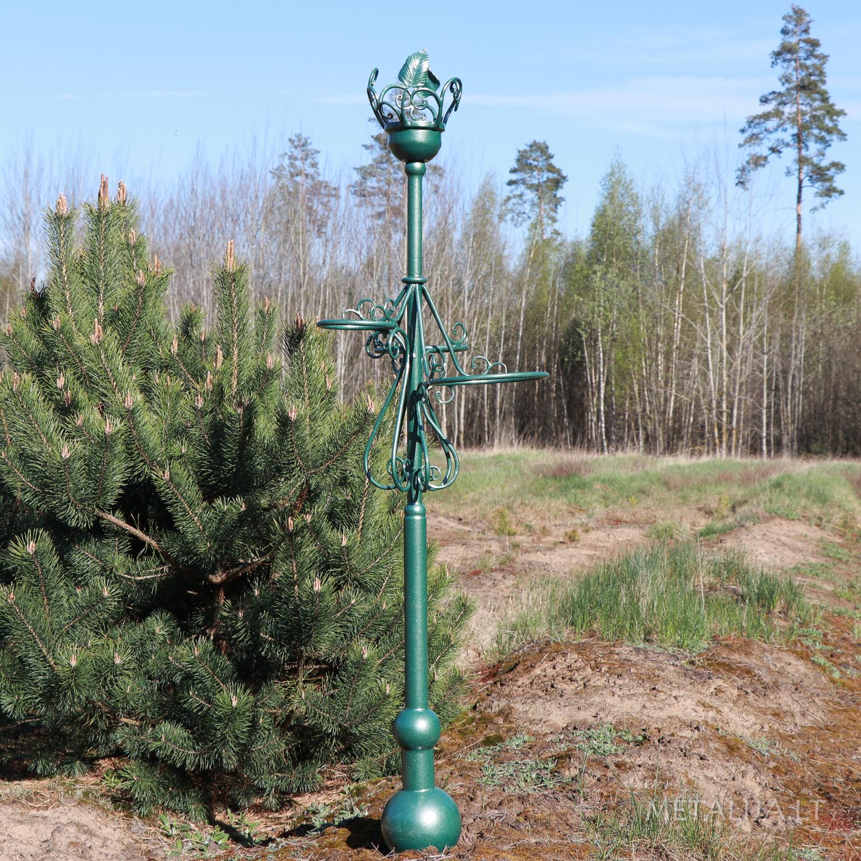 Gėlių vazonų stovas - kalviškas šviestuvas